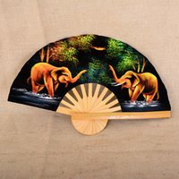 Birds specialty fans - Thai specialties do the old retro dinette bamboo craft fan folding fan Home Decoration Wall hanging fan