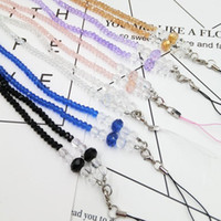 Wholesale Diy Neck Lanyards - DIY Bead Lanyard Multi Function Long Section Crystal Neck Strap Clear Cell Phone Hanging Rope Factory Direct Sale 2 8yl B