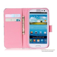 Wholesale Galaxy S3 Cartoons Flip Cover - Wholesale-Stand Style Magnet Flip Wallet Cover Leather Cartoon Paiting Pattern Soft Case For Samsung Galaxy S3 GT-i9300 Neo DUOS i9300i