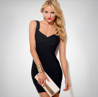 Wholesale Plus Size Womens Summer Wear - dresses for womens Candy Spaghetti Strap Celebrity Bandage Dress Lady Mini Backless Sexy Dress Club Wear Cocktail Party Summer Dress XS-XXL
