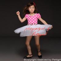 blumenmädchen tüllrock großhandel-Pettigirl Sommer Mädchen Kleid Rosa mit weißen Punkten Mieder und Tüll Rock mit Peal und Blumenmädchen Prinzessin Kleid Kinder Kleidung GD31210-1