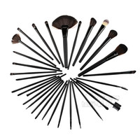 24 stücke Erhältlich Make-Up Pinsel Set Rosa PU Beutel Günstige Make-Up Pinsel Kits Aluminium Haar Halter Beste Make-Up Pinsel freies verschiffen