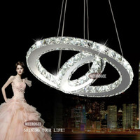 Wholesale Modern Led Ring Chandelier - 2015 New Real Pendant Lamp Lustre Lamparas Colgantes Modern Diy Design Led Chandelier Light Fixture Circle Round 2 Rings for Pendant Md8825
