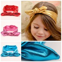 Lace spark wear - 7 Colors Fashion Infant Girls Headbands Baby Kids Pure Color Spark Elastic Head Wear Present Rabbit Ears Lovely Hairbands A3895