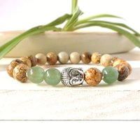 Wholesale beaded jewelry prices - SN0264 Low Price Wholesale Yoga Jewelry Silver Buddha bracelet Picture stone bracelet 2016 man's bracelet Free Shipping