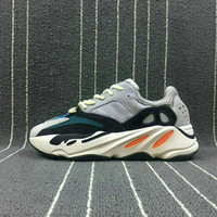 Wholesale men running shoes wave - 2019 Kanye West Boost 700 Runner Wave Best Quality Sports Running Shoes Sneakers Men Womens Black Blue Grey Athletics Shoes 5-11 with box