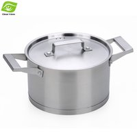 Atacado-20 centímetros de aço inoxidável da Pot Multipurpose Soup Pot Cooking Pot Para GasInduction