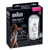 Wholesale Braun Shavers New - Braun Silk-épil 7 Epilator Pro7681 Wet and Dry Rechargeable Shaver New 10pcs