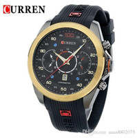 Wholesale Korean Fashion Sport - 2015 New Fashion Original CURREN Luxury Brand Men Sports Watches Relogio Masculino Silicone Band Korean Design Quartz Wristwatch