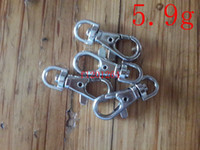 Wholesale zinc alloy nickel free resale online - Hight quality cm g Nickel Plated Key Rings Lobster Clasps Clips Snap Hooks Keychain Key Holder