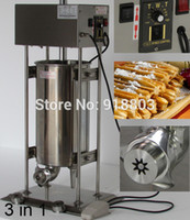 Wholesale Deep Fryer Electric - 3 in 1 15L Electric Auto Spainish Churros Machine + 6L Deep Fryer + 700ml Churros Filling Machine