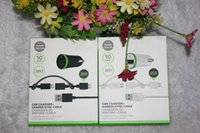 Wholesale S4 Car Charger Retail - 2 in 1 Kit US Car Adapter Car Charger + Micro USB Cable with retail package for Samsung Galaxy S3 S4 S5 iphone 5 6 6 Plus iPad 4 DHL Free