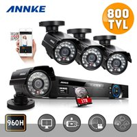 Wholesale Dvr Kit 1tb - ANNKE 8CH 960H HDMI DVR 800TVL Security Kit IR Weatherproof Outdoor CCTV Camera Home Security System Surveillance Kits 1TB