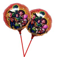 Wholesale Toy Story Stick - Wholesale-20pcs lot toy story party balloon 8.5inch hot air ballon with stick for happy birthday decoration CARTOON balao