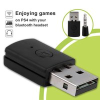 Wholesale Wireless Headset Xbox - For PS4 Bluetooth Receiver Adapter Bluetooth 4.0 A2DP Wireless Dongle USB Adapter for PS4 Controller Gamepad   Xbox one  TV  PC Headsets