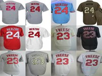 2017 venta al por mayor de los hombres de la señora Kid Toddlers St. Louis 23 David Freese 24 Whitey Herzog Home Away Alternate Cheap Cool Base Base Jerseys de béisbol