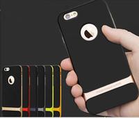 iphone 5s için zor tampon toptan satış-2015 Moda Kaya Neo Hibrid Sert Tampon Yumuşak Kauçuk Çevre Koruma Arka Kapak Kılıf iphone 6 Artı 6 + 4.7