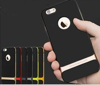 pára-choques neo híbrido venda por atacado-2015 Moda Rock Neo Híbrido Amortecedor Duro de Borracha Macia de Proteção Ambiental tampa traseira case para iphone 6 plus 6 + 4.7