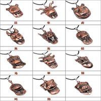 Wholesale Chinese Zodiac Animal Charms - Factory wholesale Qinuo new China wind twelve Chinese zodiac animal antique copper Vintage Pendant Necklace Jewelry Wholesale Valentine's Da