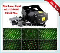 Wholesale Laser Shade - Wholesale-Mini Laser projector Stage Lights Voice Control Disco stage effect lights With EU AU US plug Black Shade night club Party Lights