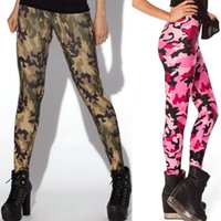 Wholesale Limited Camo - Wholesale-HOT Sexy Fashion Womens Pirate Leggins Galaxy Pants Digital Printing CAMO PINK LEGGINGS - LIMITED Woman Leggings