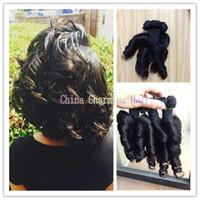 Wholesale Hair Extensions Nigeria - 8a grade Nigeria Aunty Funmi HairUnprocessed Human Hair Extensions Virgin Spiral Curls 3 Bundles,Bouncy Curly 3 PCS Lots