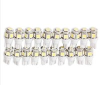 Wholesale crystal tail lights - 100PCS T10 5 SMD 5050 T12 W5W LED White Light Car Side Wedge Tail Light Lamp Bright Car Bulb Light wholesale