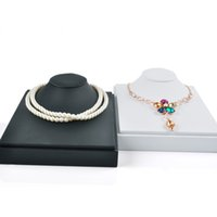 fd6ffd17730 Wholesale black velvet necklace display stands for sale - Jewelry Display  Stand Black White Necklace Bust