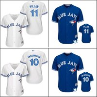 Wholesale Cheap White Ladies Shirt - 30 Teams- Hot sale Cheap Authentic Toronto Blue Jays Women's shirt Ladies #11 Kevin Pillar Baseball Jersey 100% Stitched for sale