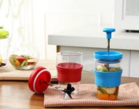 Wholesale Milk Shake Mix - 2016 new 3 Colors PP Plastic Fruit Milk Shake DIY Manual Mixing Cup , Kitchen Accessories Gadgets for Juice , Juicer Cooking Tools