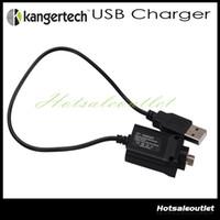 Wholesale Kanger Evod Usb Battery - Original Kanger USB Charger cable e cigarette Kanger USB Charger EVOD USB ego battery Charger Cable for Ipow 2 mini spinner kanger nebox