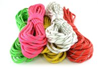 Wholesale Paracord Reflective - 50Ft(15m)reflective paracord 550 Paracord Parachute Cord Lanyard Rope Mil Spec Type III 7 core strand 7 colors