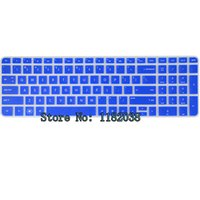 Wholesale Translucent Silicone Keyboard - Wholesale-Translucent Blue Silicone Keyboard Protector Skin Cover for HP Pavilion New DV6 6xxx 7xxx M6 US Layout