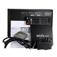 preços de quads venda por atacado-Preço de fábrica MXQ Pro 4 K TV Box RK3229 Quadrado 1G / 8G Android IPTV OTT TV Caixas