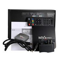 precios de quads al por mayor-Precio de fábrica MXQ Pro 4K TV Box RK3229 Quad Core 1G / 8G Android IPTV OTT TV Boxes