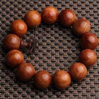 Wholesale Wood Beads 15mm - Wholesale Tibetan Jewelery Natural Green sandalwood 15mm 18mm 20mm Prayer beads Buddha Bracelet Men   Women Lucky Gift Religion Charm