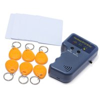 Wholesale Id Card Writer - RFID Handheld 125KHz EM4100 ID Card Copier Writer Duplicator with 6 Writable Tags + 6 Writable Cards Free Shipping