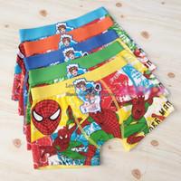 junge kurze slips großhandel-Spiderman Boxershorts Kinder Unterwäsche Boy Boxer Briefs Baumwolle Boxer Kinderkleidung Kinderkleidung Mode Unterwäsche Unterhose C1086