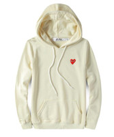 Wholesale Plus Size Spring Clothing - Spring Autumn Brand Clothing Play Sweatshirt Plus Size Loose Red Heart Embroidery Character Hooded Hoodie Men Women palace Pullov kanyesup