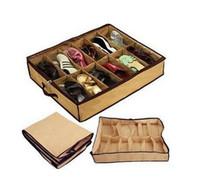 Wholesale Closet For Shoes - Closet shoes Organizer Under Bed Storage Holder Box Container Case Storer For 12 Shoes Wholesale 500pcs DHL Free