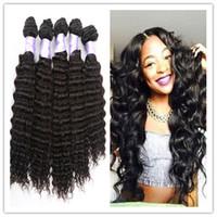 Wholesale Cheap Brazilian Deep Curl - Hot Sale 8A Peruvian Deep curl Wave Virgin Hair, 100% Unprocessed Virgin Peruvian Hair, Cheap Peruvian Hair Bundles Online free shipping