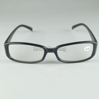 óculos de leitura emoldurados preto venda por atacado-Óculos de Leitura baratos Armação De Plástico Rodada Lente De Óculos De Resina Em Preto 50 pçs / lote Preto E Tartaruga