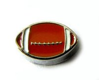 Wholesale 20PCS American Football DIY Alloy Sport Floating Locket Charms Fit For Glass Living Magnetic Memory Locket Fashion Jewelrys