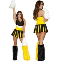 ingrosso cheerleader sexy del costume della donna-Costumi per adulti uniformi S5551 del partito delle donne della ragazza pon pon di Hottie di Halftime del costume delle donne sexy