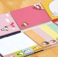 papel de tipografía al por mayor-Venta al por mayor lindo Sticky Memo Pad Lovely Sticky Note Pad Set DIY School Pad Mensaje Sticker 30 unids / lote Envío gratis