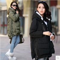 Wholesale Down Coat Europe - Winter Jacket Women 2015 New Europe Style Fashion Loose Coat female Medium Long Plus Size Down Park Jackets For Women Hot M0514