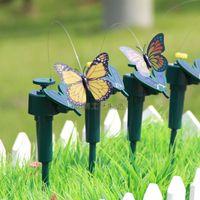ingrosso battery solar butterflies-2015 Nuovi uccelli ronzio solare, farfalle giocattoli da giardino, giocattoli educativi illuminazione studenti solare e batteria combo.GIFT A-0081