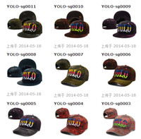 Wholesale Yolo Snap - Newest YOLO Snapbacks Hat Snap back Baseball Sports Hats Caps Headwears Mixed Order Sport cap Snapback Size Adjustable High Quality