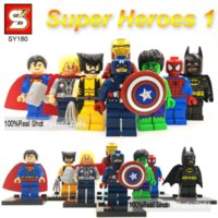 DC Marvel Figurines de jouets d'action SY Blocks VS Decool Minifigures Blocs de construction Heroes Assembler Super Heroes Justice League X-Men