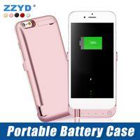 handy-batterie-backup-leistung großhandel-ZZYD 6000 mAh Externe Energien-bank-ladegerät Handy Backup Batterie Fall Für iP 6 7 8 plus Handy